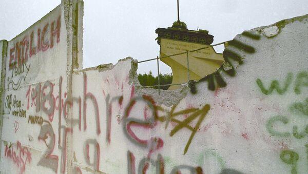 Остатки Берлинской стены. Архивное фото.