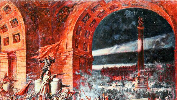 Картина П.П.Соколова-Скаля Взятие Зимнего дворца