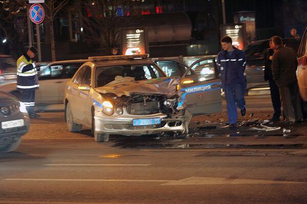 Дорожно-транспортное происшествие на Новом Арбате в Москве