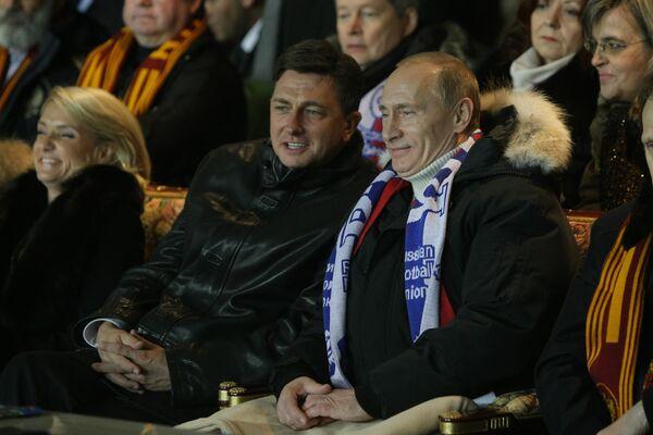 Владимир Путин (справа) и Борут Пахор