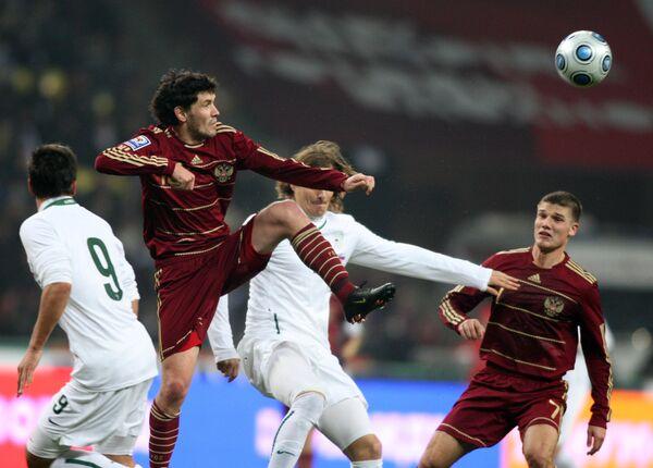 Игровой момент матча Россия – Словения