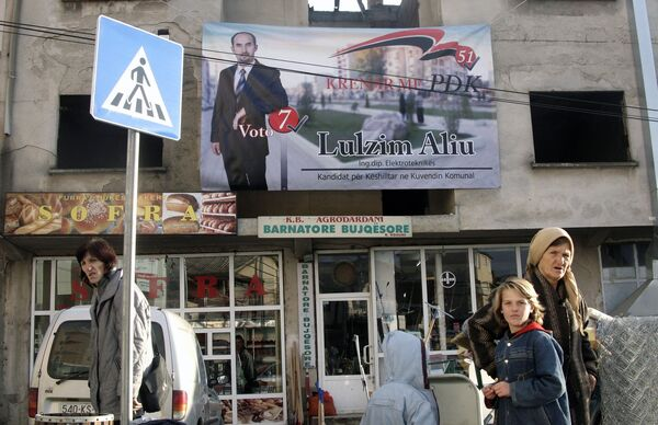 Агитация перед муниципальными выборами в Косово
