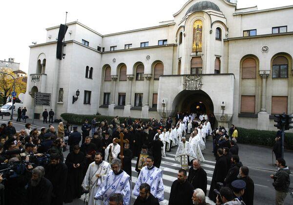 Отпевание патриарха Павла пройдет в храме святителя Саввы в Белграде