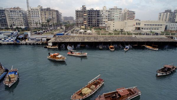 Порт-Саид. Вид на акваторию Суэцкого канала. Архивное фото