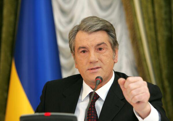 Действующий президент Украины Виктор Ющенко. Архив
