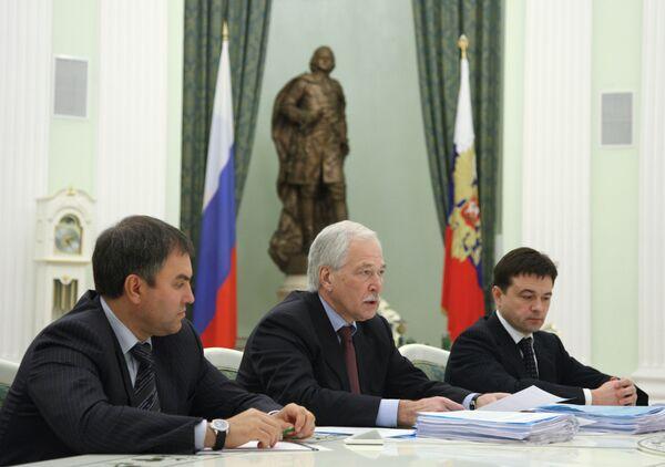 Встреча президента РФ Дмитрия Медведева с руководством партии Единая Россия. Архив