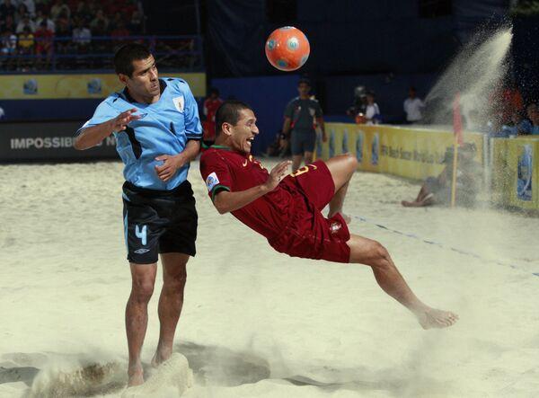 Игровой момент матча Португалия - Уругвай