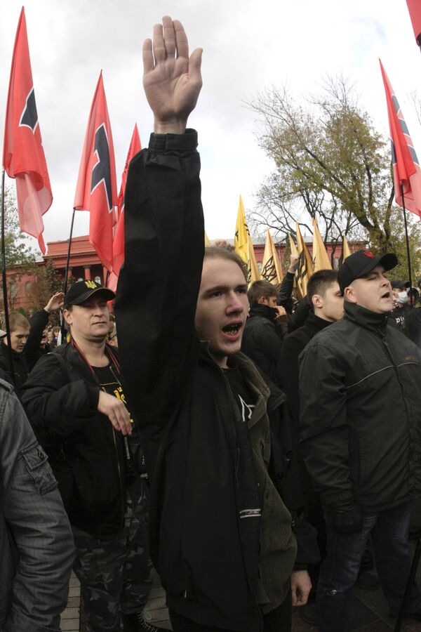 Марш представителей националистических организаций Украины. Архив
