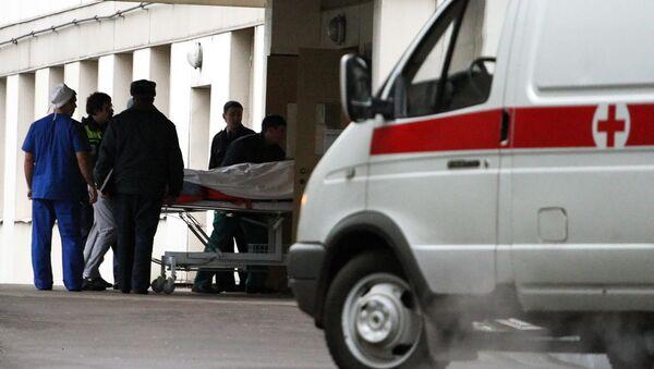 Пострадавшие при пожаре в пермском клубе доставлены на вертолете в городскую клиническую больницу № 36 в Москве