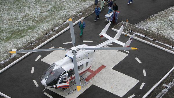 Вертолет доставил в Нальчик тела туристов, погибших под лавиной в КБР