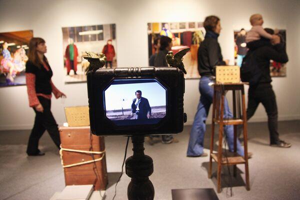 На выставке работ номинантов Премии Кандинского в Центральном доме художника
