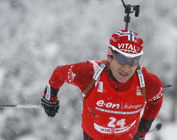 Норвежский биатлонист Уле Эйнар Бьрндален