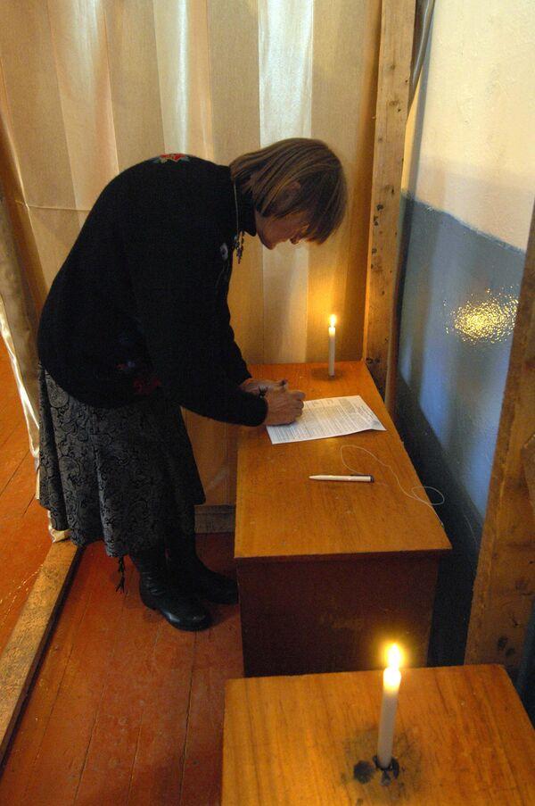 Голосование на выборах в Абхазии