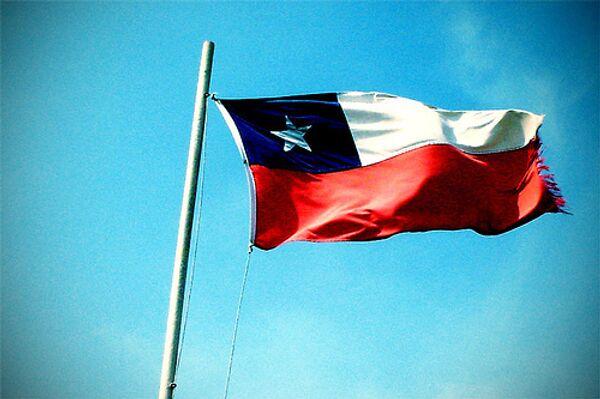 Флаг Чили, архивное фото.