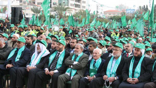Митинг движения ХАМАС. Архив