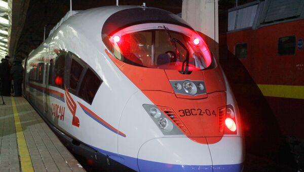 Высокоскоростной поезд Сапсан. Архив