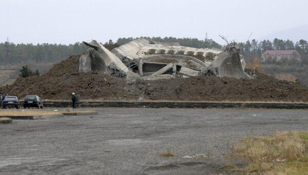 Взорванный Мемориал славы в Кутаиси
