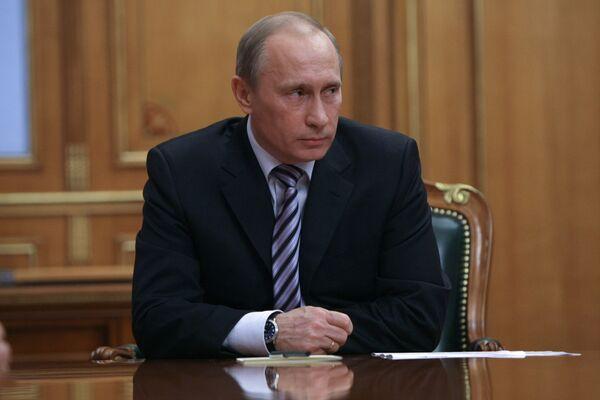 Премьер-министр РФ Владимир Путин встретился с Зурабом Ногаидели