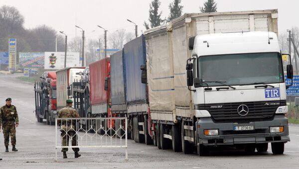 Работа таможенных и пограничных служб Украины на границе с Россией. Архив