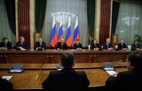 Заключительное в 2009 году заседание правительства РФ