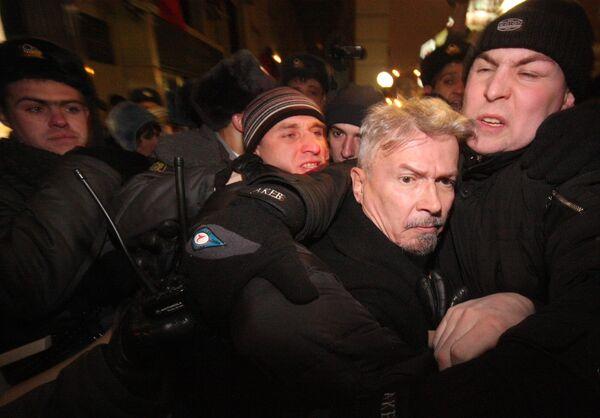 Организатор Митинга несогласных Эдуард Лимонов. Архив