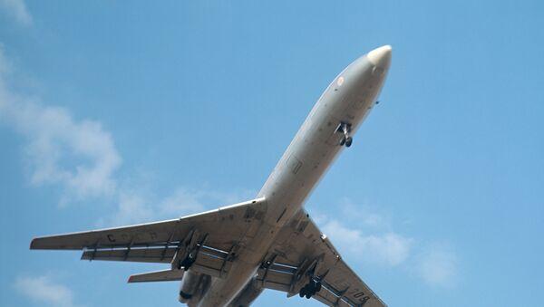 Пассажирский самолет ТУ-154. Архив
