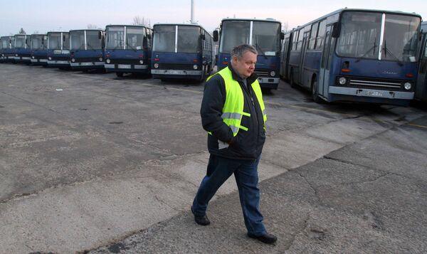 Забастовка работников общественного транспорта в  Будапеште