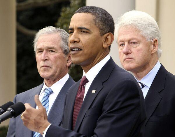 Обама, Буш и Клинтон создали фонд по сбору денег для помощи Гаити