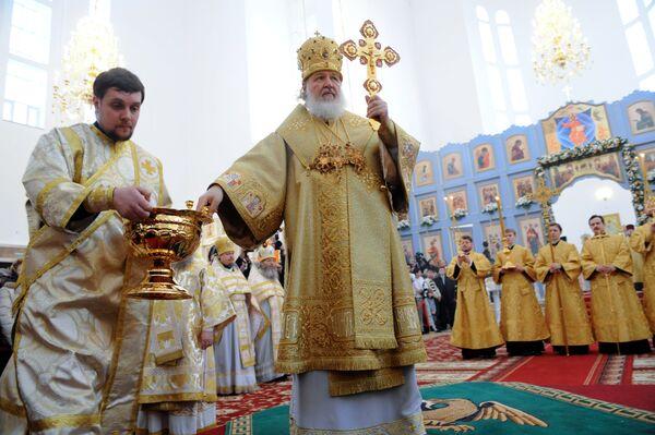 Патриарх Московский и Всея Руси Кирилл совершает визит в Казахстан