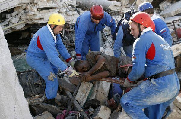 Российские спасатели на Гаити