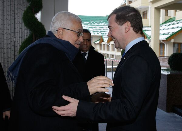 Встреча Дмитрия Медведева и Махмуда Аббаса в Сочи