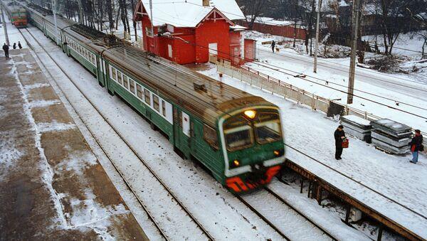 Железнодорожная платформа. Архив