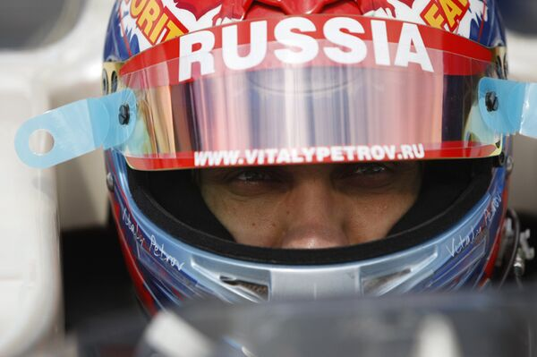 Российский автогонщик Виталий Петров