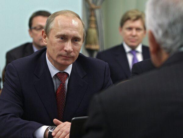Встреча премьер-министра РФ Владимира Путина с министром энергетики и нефти Венесуэлы