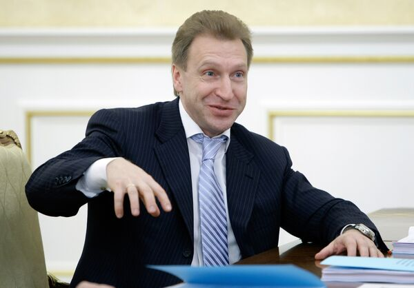 Первый заместитель председателя правительства РФ Игорь Шувалов. Архив