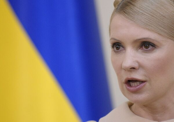 Юлия Тимошенко на пресс-конференции