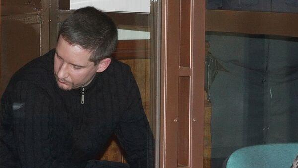 Денис Евсюков в зале суда. Архив
