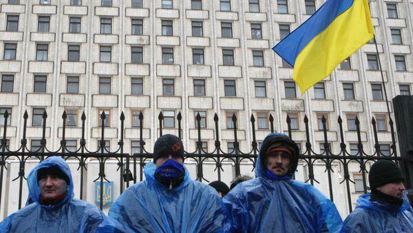 Митинг у здания ЦИК Украины. Архив