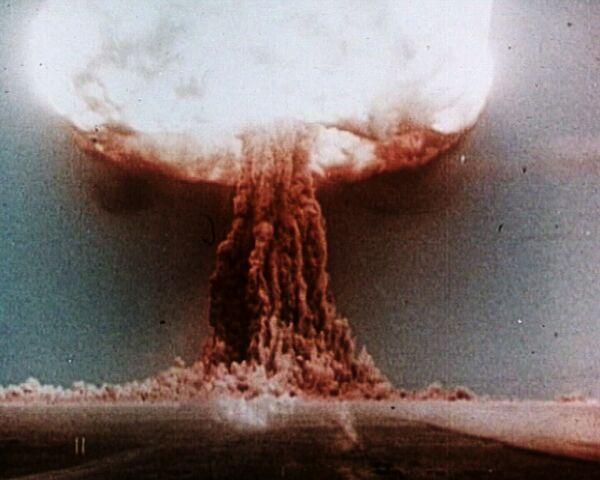 Испытание первой советской водородной бомбы