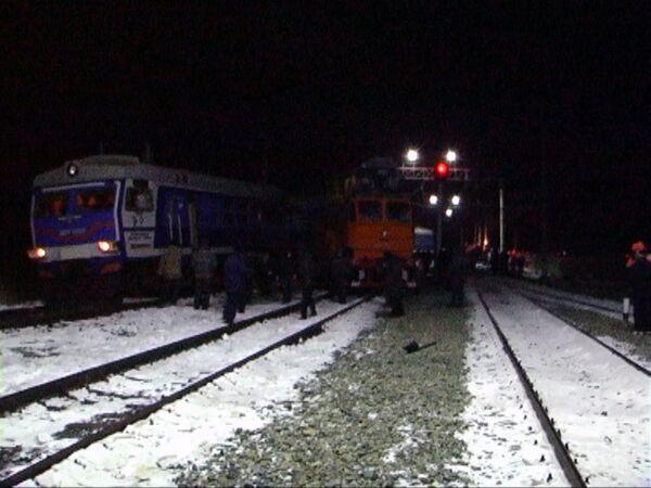 Авария в Астраханской области, на перегоне Дельта - Бузанский Приволжской железной дороги