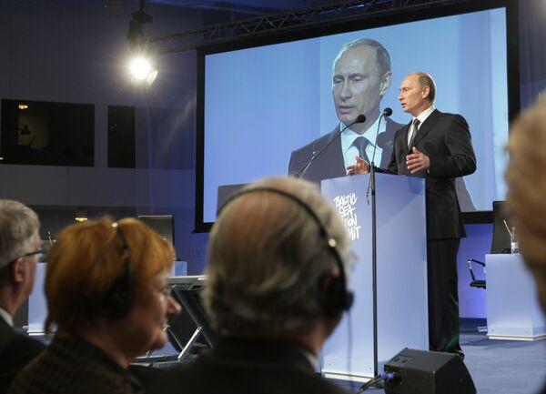 Премьер-министр РФ Владимир Путин на пленарном заседании Саммита действий по Балтийскому морю