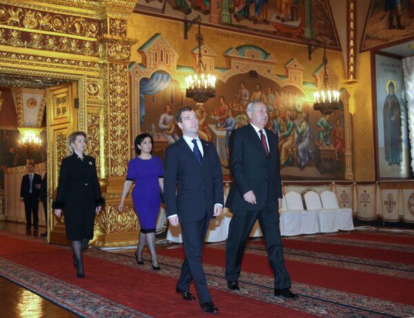 Встреча президентов России и Абхазии Д.Медведева и С.Багапша