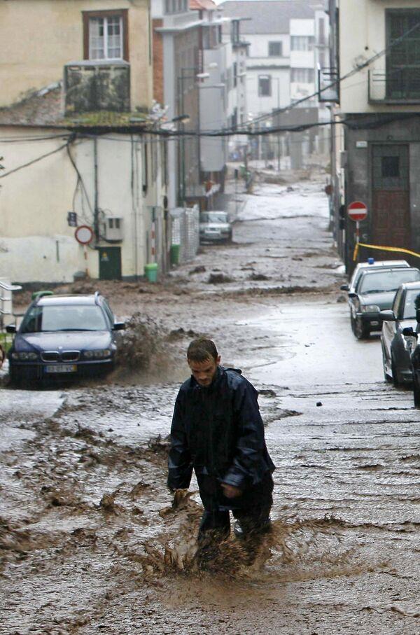 Наводнение на португальском острове Мадейра