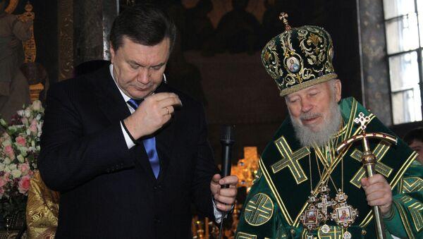Предстоятель Украинской Православной Церкви митрополит Владимир благословил новоизбранного президента Украины Виктора Януковича на исполнение обязанностей главы государства