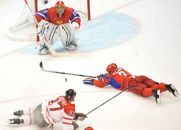 Во время четвертьфинального матча между сборными России и Канады на ХXI зимних Олимпийских играх
