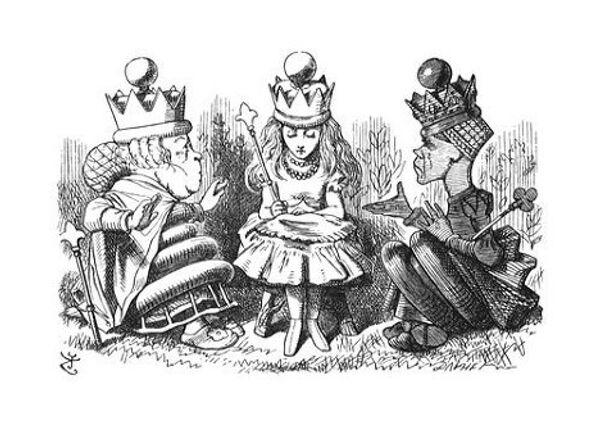 Джон Тенниел. Первые иллюстрации к книге Льюиса Кэррола Алиса в Зазеркалье.