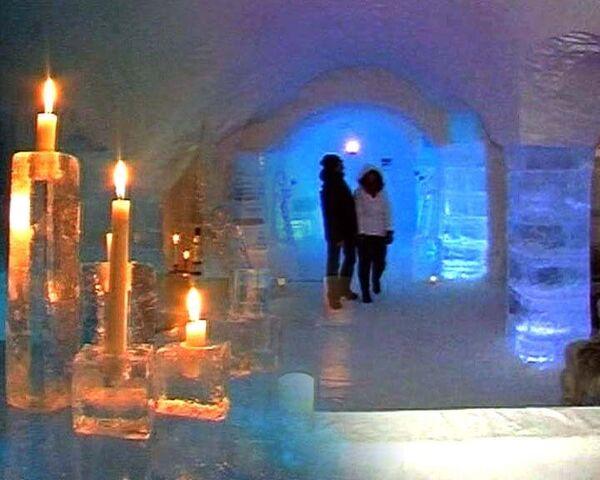 Видеоэкскурсия по ледяному отелю в норвежской Лапландии