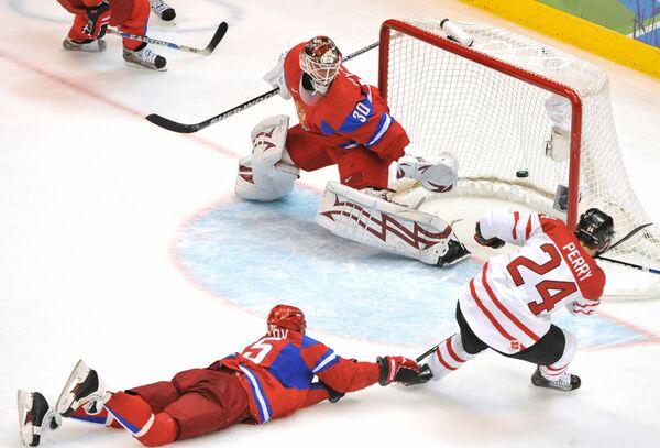 Олимпиада - 2010. Хоккей. Четвертьфинал. Россия - Канада - 3:7