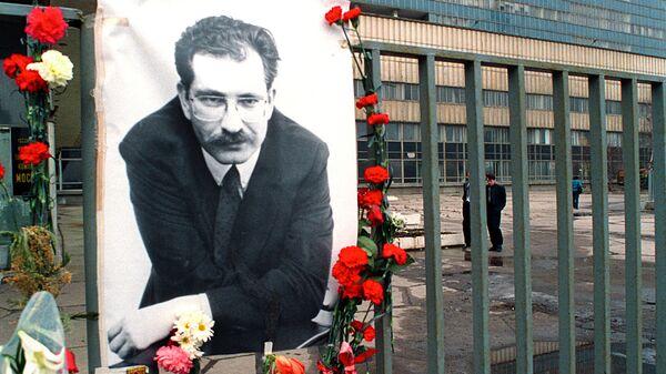 В день гибели В.Листьева у телецентра Останкино