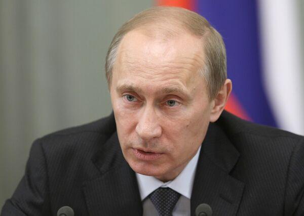 Премьер-министр России Владимир Путин провел заседание Правительственной комиссии по высоким технологиям и инновациям. Архив